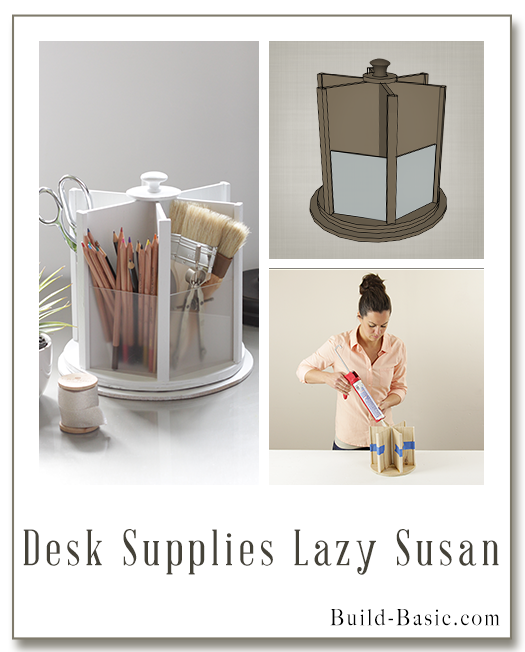 Build a DIY Desk Supplies Lazy Susan - Building Plans by @BuildBasic www.build-basic.com