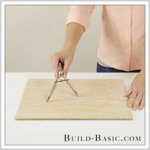 DIY Desk Supplies Lazy Susan by Build Basic - Step 1