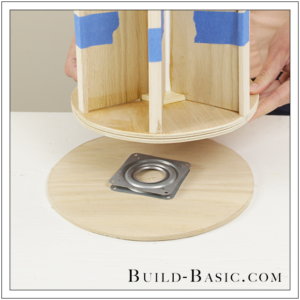 DIY Desk Supplies Lazy Susan by Build Basic - Step 18