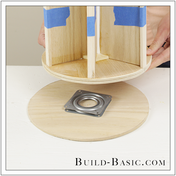 diy desk supplies lazy susan by build basic step 18