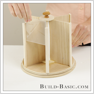 DIY Desk Supplies Lazy Susan by Build Basic - Step 20