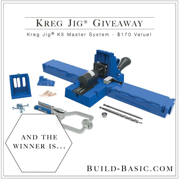 Kreg Jig K5MS Giveaway on Build Basic - www.build-basic.com @BuildBasic