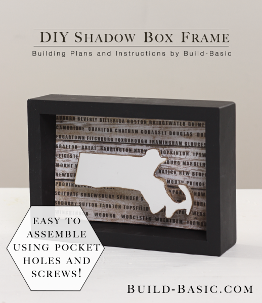 Build a DIY Shadow Box Frame - Building Plans by @BuildBasic www.build-basic.com