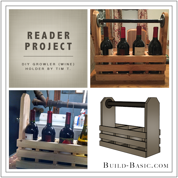 Build Basic DIY Growler Wine Holder by Tim T - Reader Project