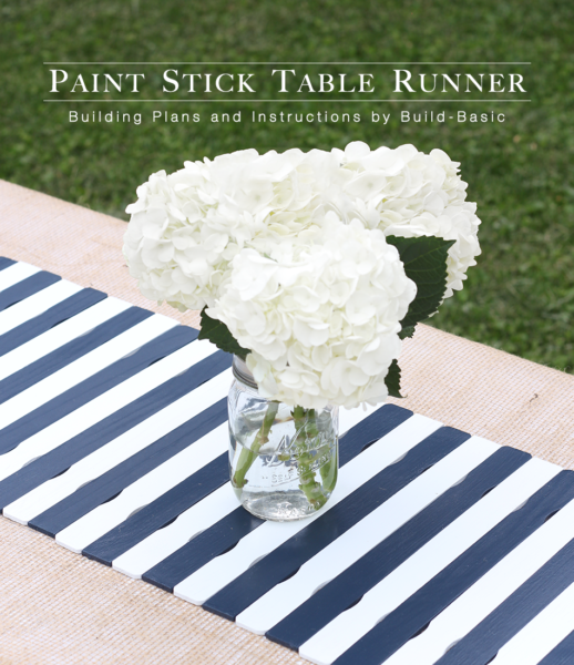 Make a Paint Stick Table Runner – Building Plans by @BuildBasic www.build-basic.com