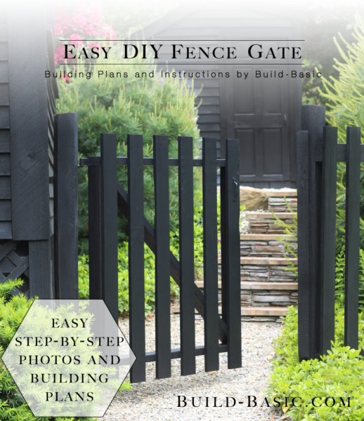 build an easy diy fence gate build basic. Black Bedroom Furniture Sets. Home Design Ideas