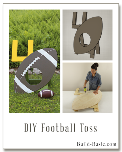 Build a DIY Football Toss – Building Plans by @BuildBasic www.build-basic.com