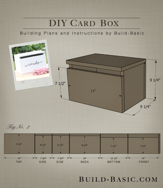 DIY Card Box by Build Basic - Project Opener - Drawing