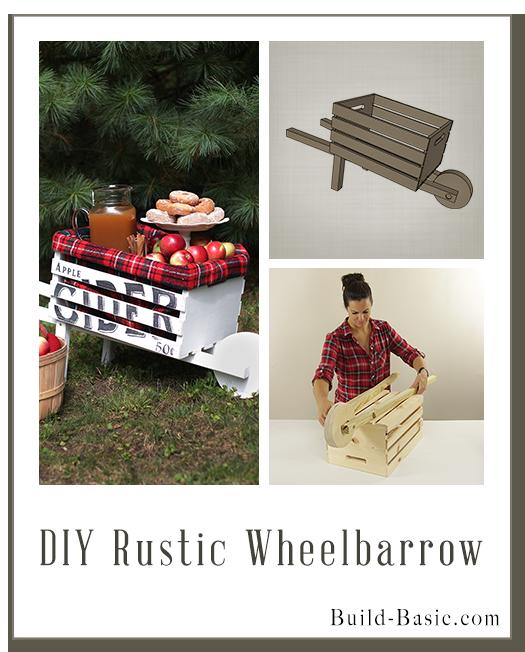 Build a DIY Rustic Wheelbarrow – Building Plans by @BuildBasic www.build-basic.com