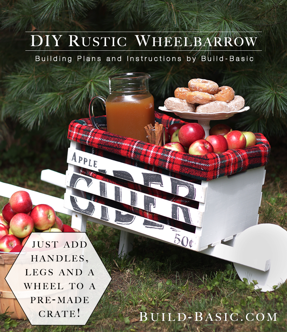 Build a DIY Rustic Wheelbarrow – Building Plans by @BuildBasic www.build-basic.com