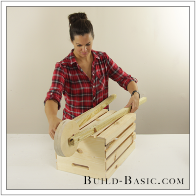 Build a Rustic Wheelbarrow Cider Stand by Build Basic – The Home Depot DIY Workshop – wwwbuild-basic.com