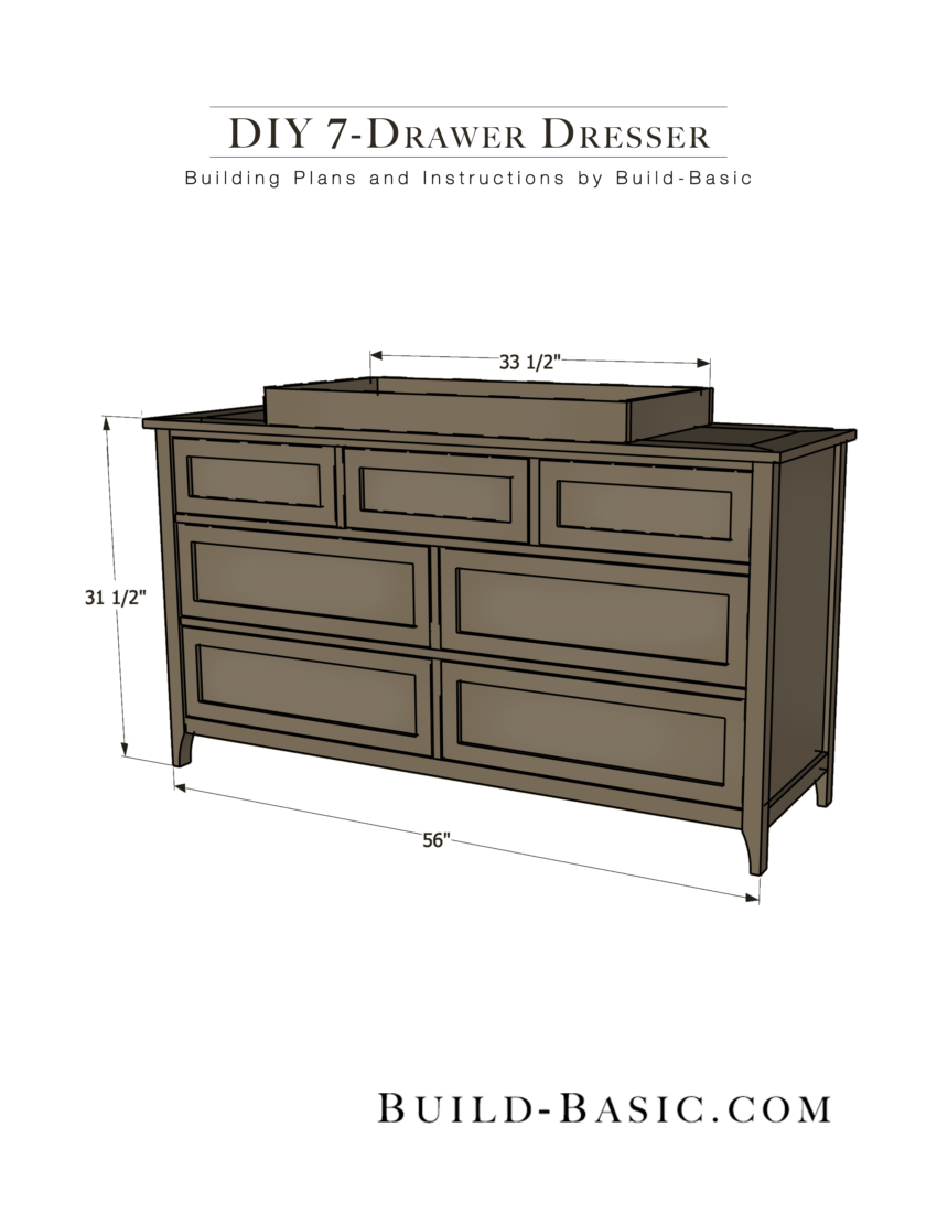 Build A Diy 7 Drawer Dresser Basic