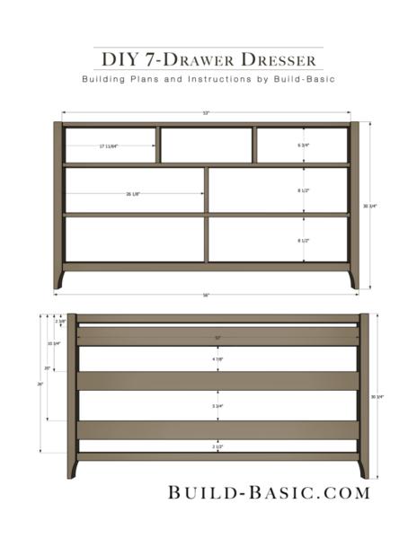 Diy 7 Drawer Dresser By Build Basic Pdf Instructions Page 2 Build