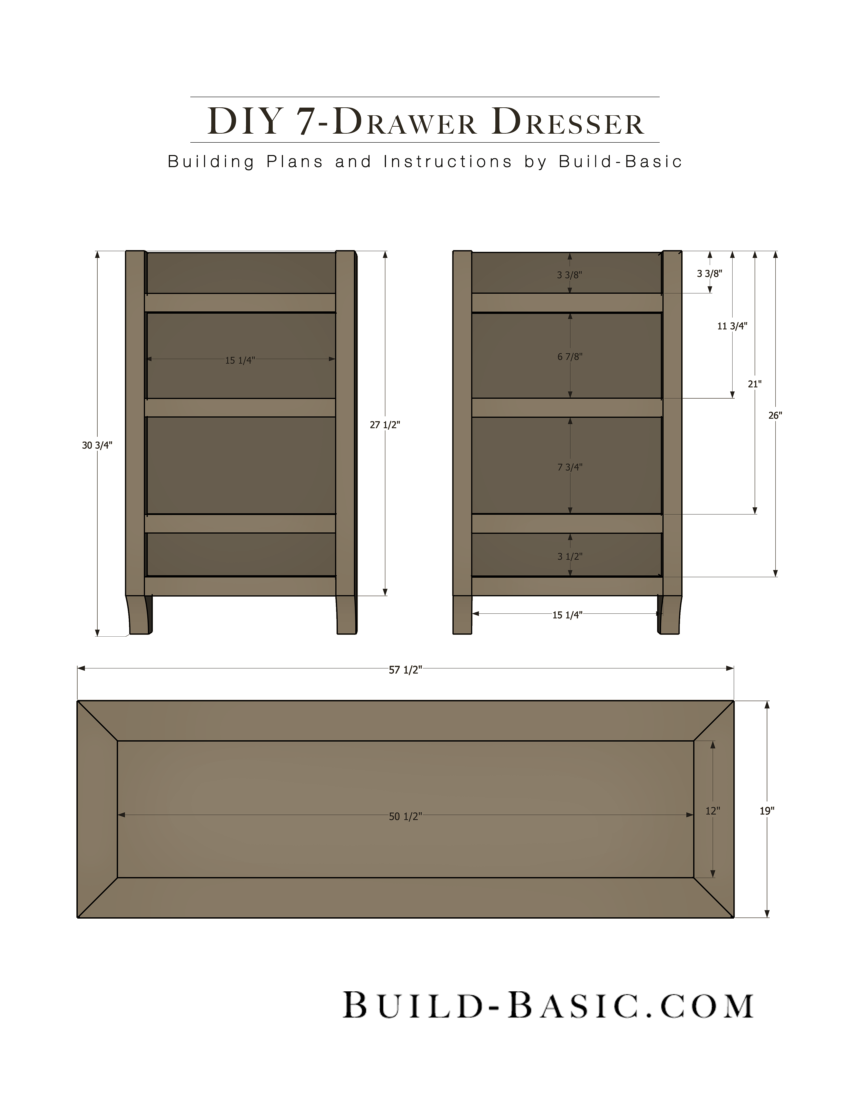 Diy 7 Drawer Dresser By Build Basic Pdf