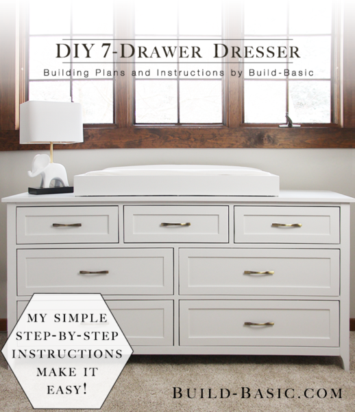 Build A Diy 7 Drawer Dresser Build Basic