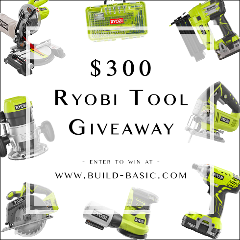 Ryobi tool giveaway by @BuildBasic www.build-basic.com
