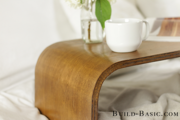 Bent Plywood Lap Tray by Build Basic - 3 SMALL