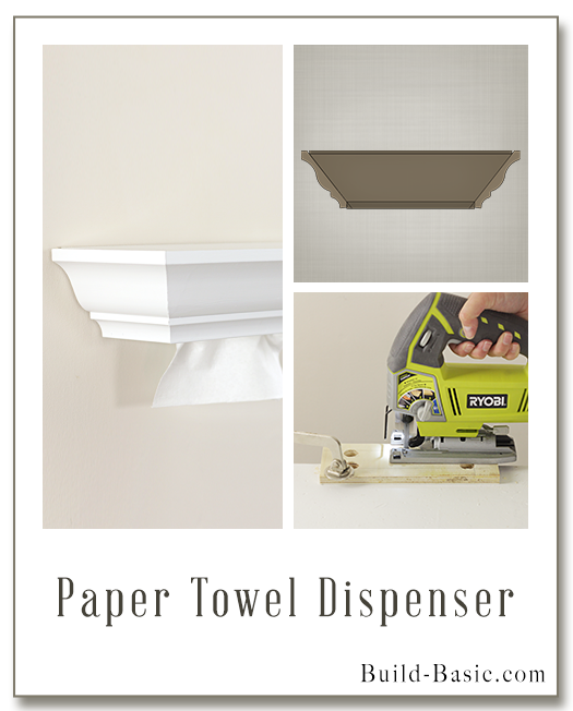 DIY Paper Towel Dispenser by Build Basic - Display Frame